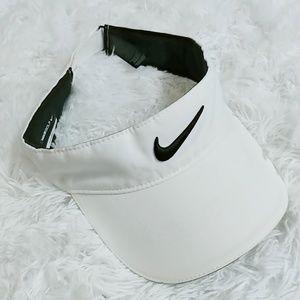 Nike Golf Sun Viser White Black Adjustable
